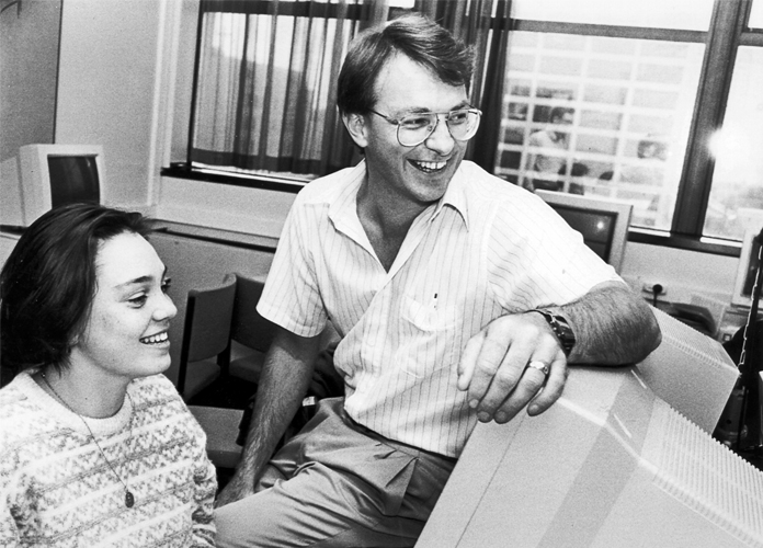 1991 — Former Education Minister Phil Goff on the staff of the new Diploma in CommunicationsStudies, which became the Bachelor of Communication Studies the same year.