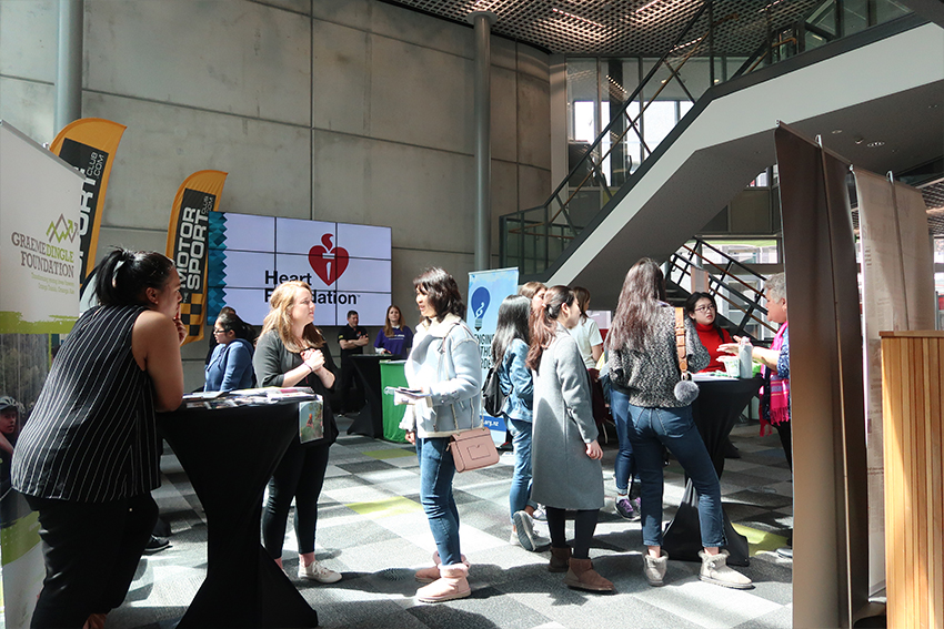 The 2017 Volunteering Expo attracted over 100 students wanting to discuss volunteer opportunities with not-for-profit organisations