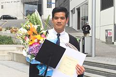 An alumni from AUT