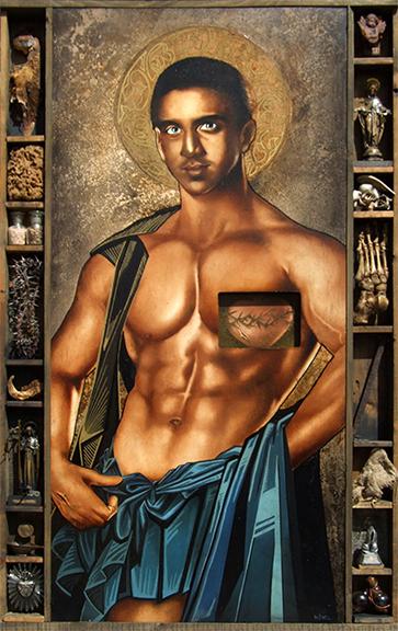Mesomorphic Jesus. (1997). Oil on wood.