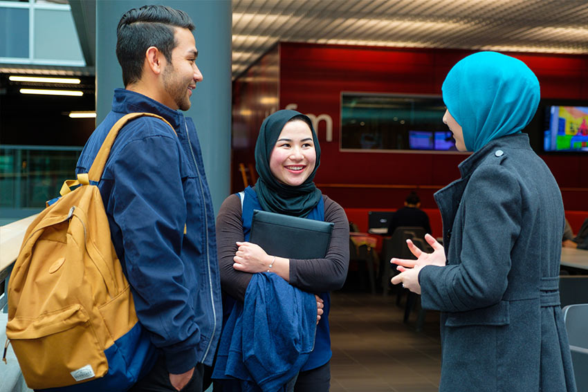 AUT's multifaith rooms, Muslim prayer rooms and chaplains provide religious and spiritual support for students.