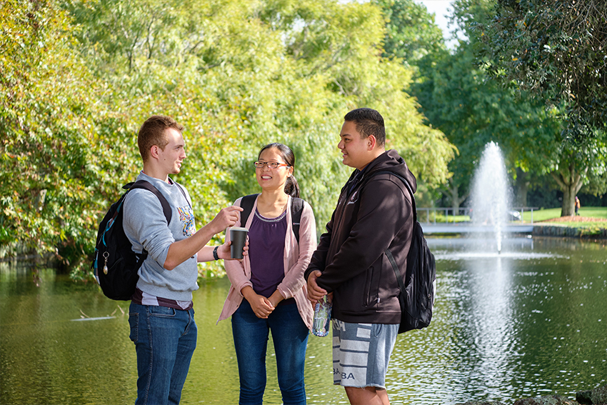 The intimate nature of the South Campus makes it easy to socialise and make new friends