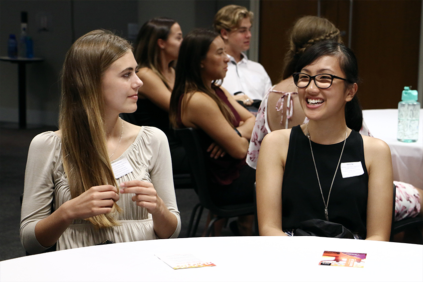 Our scholarship students have access to an extensive programme of support – from the welcome dinner for new scholarship recipients to the end-of-year scholars' ball.