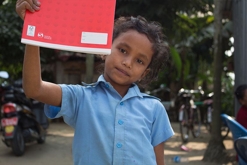 Photo of a kid Alannah teaches