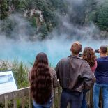 Views of the thermal pools at Waimangu Volcanic Valley