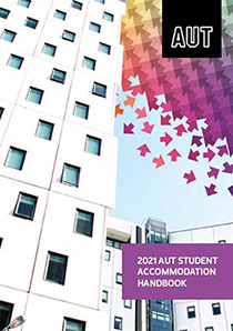 Accommodation handbook cover page showing accommodation building
