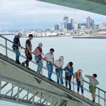 Auckland Harbour Bridge walk, Waitemata Harbour, Auckland