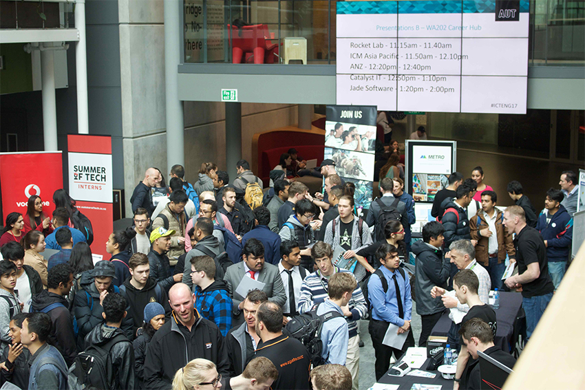 More than 140 recruiters attend our annual ICT & Engineering Careers Fair to connect with over 700 students