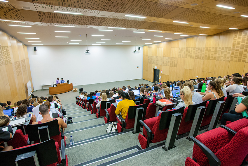 Our lecture theatres offer a comfortable learning environment