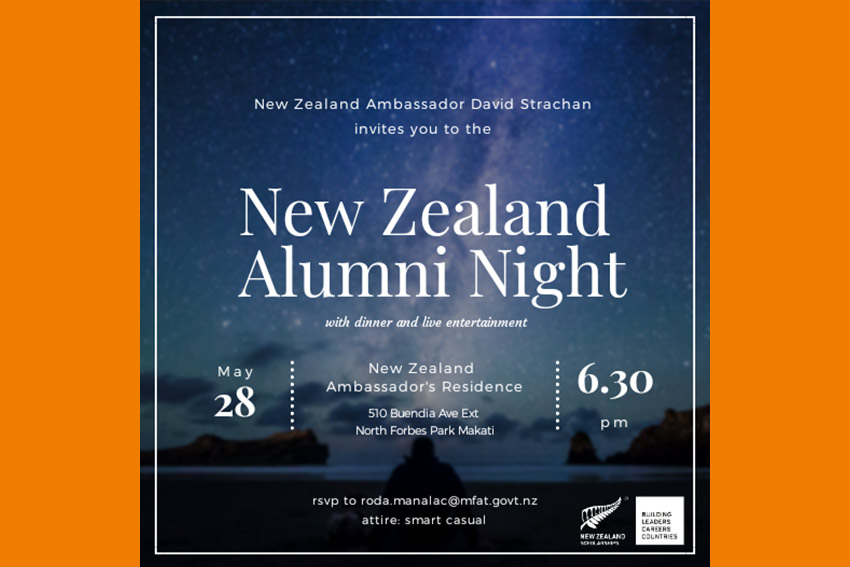 NZ Alumni night invitation