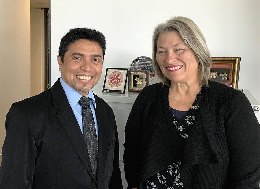 Sharon Harvey with Sayit Abdul Karim
