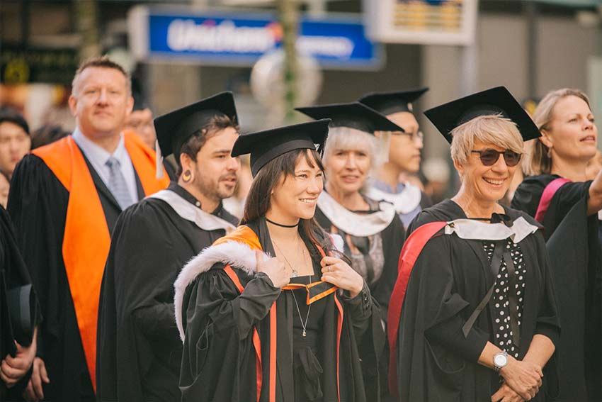 Happy faces at AUT's graduation