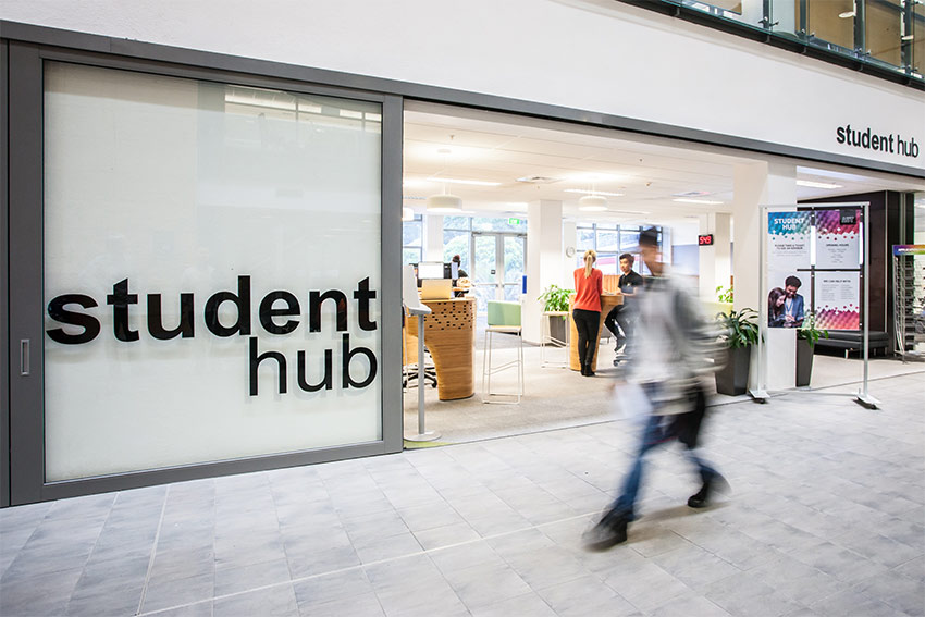 Student hubs are located on campuses