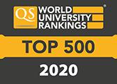 2018 - Top 500 - QS world university ranking accreditation logo