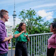 Person wearing virtual reality headset