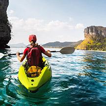 Kayaker in water