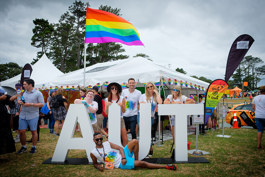 The Out@AUT Student Network is just one way AUT provides a friendly and accepting environment for rainbow students