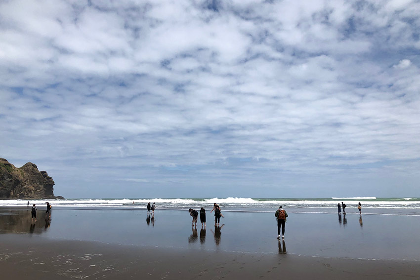 Visiting rugged Piha, a popular surf beach west of Auckland