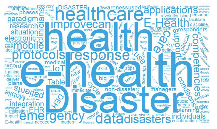 Disaster eHealth Wordcloud