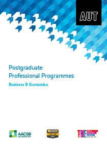 Business & Economics Postgraduate Professional Programmes