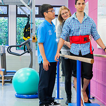 Patient receiving physiotherapy treatment