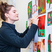 Student posting art work