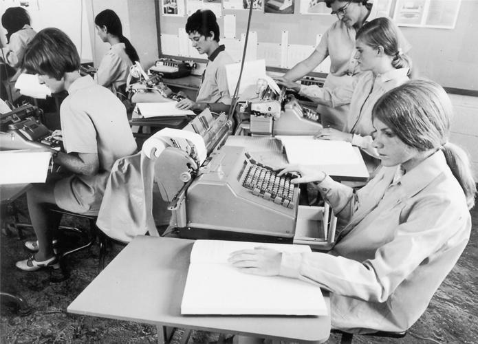 1970 — Senior business class, Auckland Technical Institute.